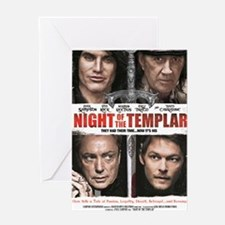 NIGHT OF THE TEMPLAR WHITE POSTER 11 Greeting Card