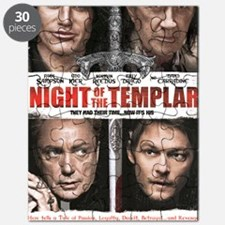 NIGHT OF THE TEMPLAR WHITE POSTER 11x17 SMA Puzzle