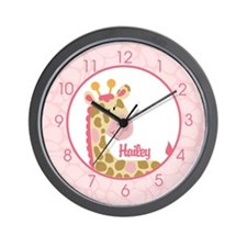 Pink Giraffe Clock - Hailey Wall Clock
