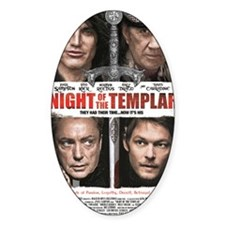 NIGHT OF THE TEMPLAR WHITE POSTER 1 Decal