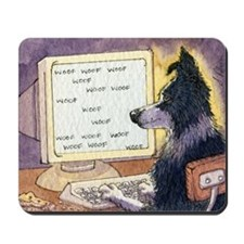 Border Collie dog writer Mousepad