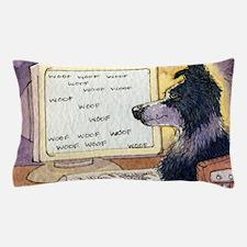 Border Collie dog writer Pillow Case