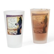 Border Collie dog writer Drinking Glass