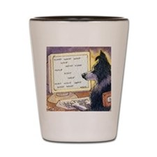 Border Collie dog writer Shot Glass