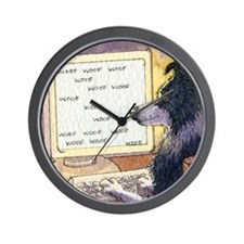 Border Collie dog writer Wall Clock