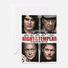 NIGHT OF THE TEMPLAR WHITE POSTER NO Greeting Card