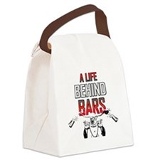 Motorcycle A Life Behind Bars Canvas Lunch Bag