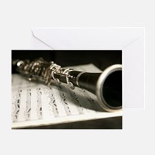 Clarinet and Music Case Laptop Skin Greeting Card