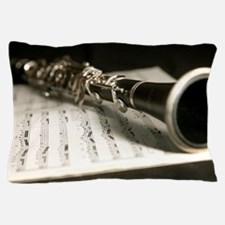 Clarinet and Music Case Laptop Skin Pillow Case