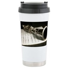 Clarinet and Music Case Travel Mug