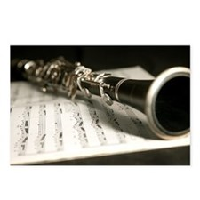Clarinet and Music Case L Postcards (Package of 8)