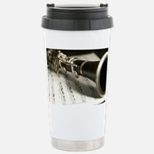 clarinet and Music Case Stainless Steel Travel Mug