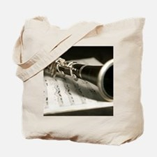 clarinet and Music Case Mens Full Shirt Tote Bag
