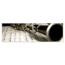 clarinet and Musc Case Mens Mug Bumper Bumper Sticker