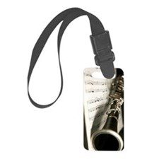 Clarinet and Music Case Luggage Tag