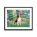 Bridge & Beagle Framed Panel Print