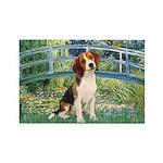 Bridge & Beagle Rectangle Magnet (10 pack)