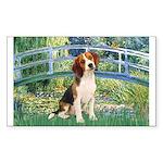 Bridge & Beagle Sticker (Rectangle)