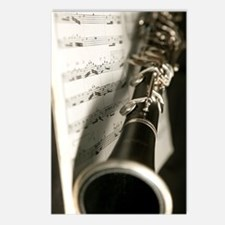 Clarinet and Musc Flip Fl Postcards (Package of 8)
