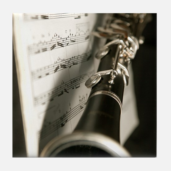 Clarinet and Musc Flip Flops Band Tile Coaster