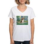 Bridge & Beagle Women's V-Neck T-Shirt