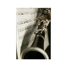 Clarinet and Musc Flip Flops Band Rectangle Magnet
