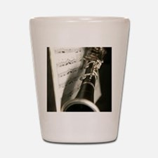 Clarinet and Musc Flip Flops Band Shot Glass