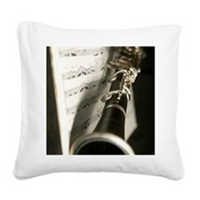 Clarinet and Musc Flip Flops  Square Canvas Pillow
