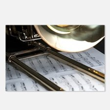 Trombone and Music Shirt Postcards (Package of 8)