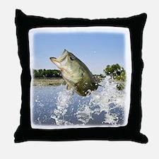 Miss Bass Throw Pillow