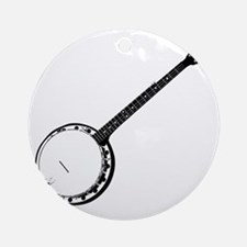 Banjo Bluegrass Shirt Round Ornament
