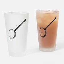 Banjo Bluegrass Shirt Drinking Glass