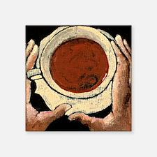 "Cafe Square Sticker 3"" x 3"""