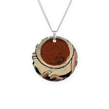 Cafe Necklace Circle Charm