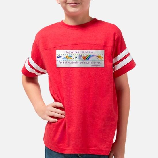 A good heart.jpg Youth Football Shirt