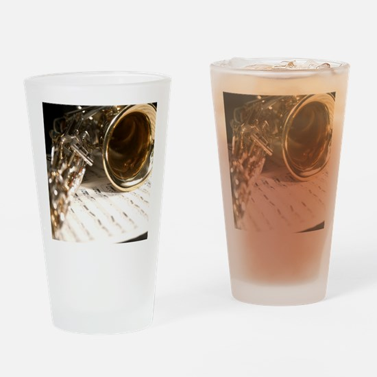 Sax Music and Notes Shirt Drinking Glass