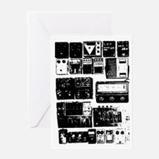 Pedal Board black Greeting Card
