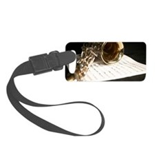 Saxophone Music and Notes Laptop Luggage Tag