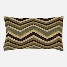Earthy green zigzags Pillow Case