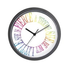 Thought She Be But Little She Be Fierce Wall Clock