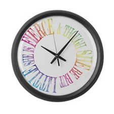 Thought She Be But Little She Be  Large Wall Clock