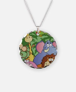 cute cartoon jungle animals  Necklace