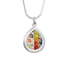 Create Silver Teardrop Necklace