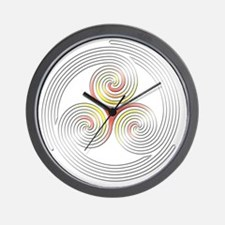 Triple Spiral - 4 Wall Clock