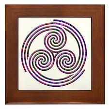 Triple Spiral - 11 Framed Tile