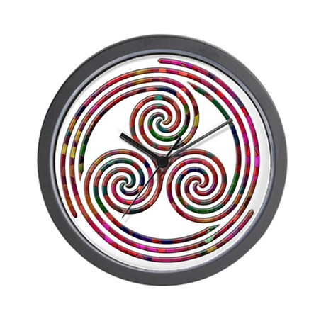 Triple Spiral - 9 Wall Clock