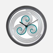 Triple Spiral - 13 Wall Clock