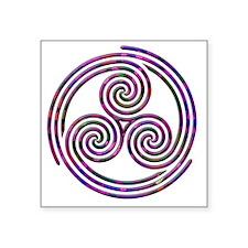 "Triple Spiral - 11 Square Sticker 3"" x 3"""