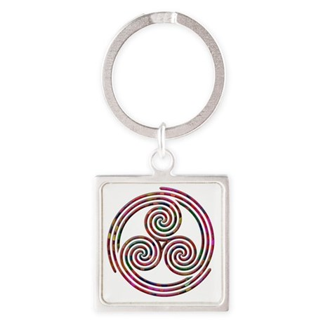 Triple Spiral - 9 Square Keychain