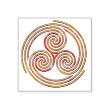 "Triple Spiral - 6 Square Sticker 3"" x 3"""
